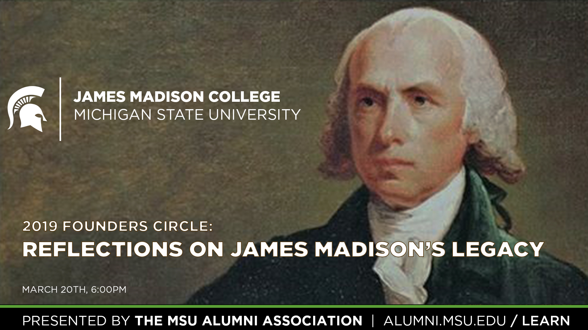 livestream cover image for 2019 Founders Circle | Reflections on James Madison's Legacy