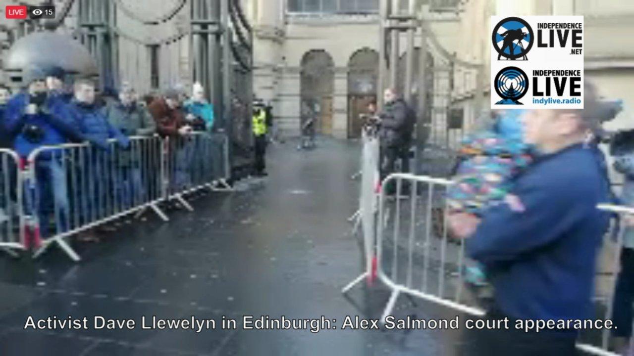 Activist Dave Llewellyn in Edinburgh