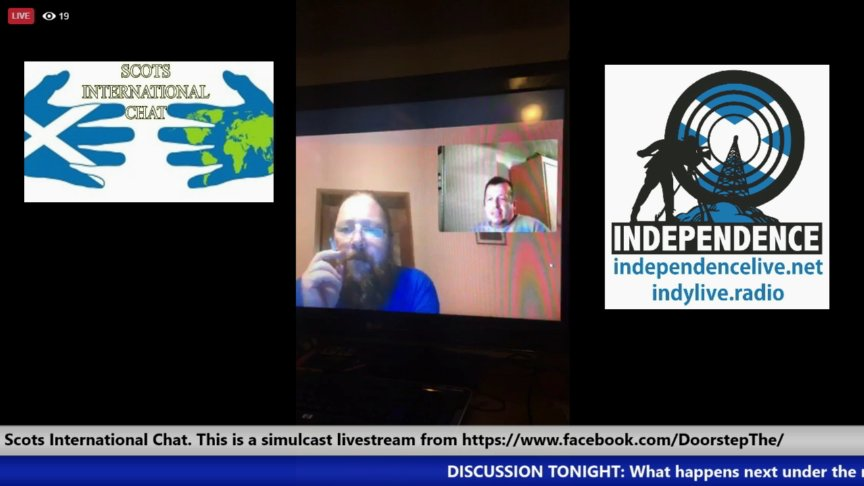 Scots International Chat. This is a simulcast livestream from https://www.facebook.com/DoorstepThe/