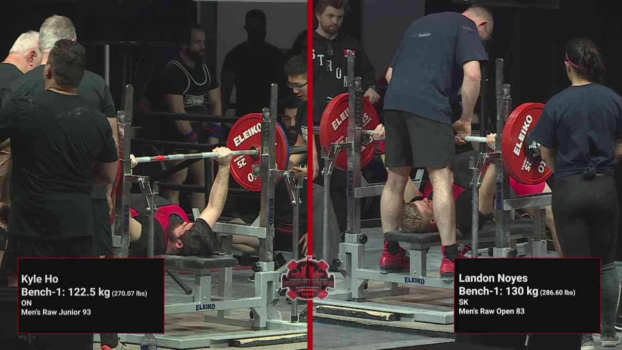2019 Canadian Powerlifting Chps  T2 on Livestream