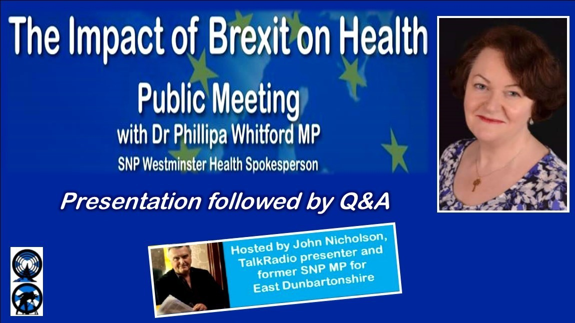 The Impact of Brexit on Health with Dr Phillipa Whitford MP - YES Glasgow N