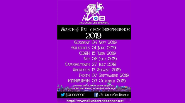 #AUOBGlasgow - March & Rally