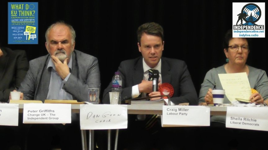 Election Hustings, EU Elections, Stirling.