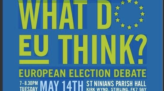 Election Hustings, EU Elections, Stirling