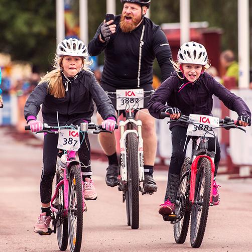 Målgång i Mora – Cykelvasan Söndag