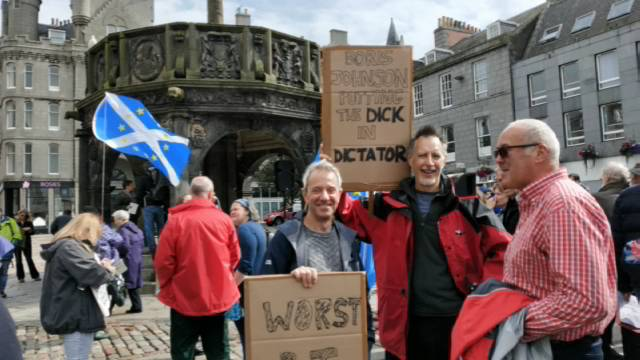 Anti-prorogation rally, Aberdeen
