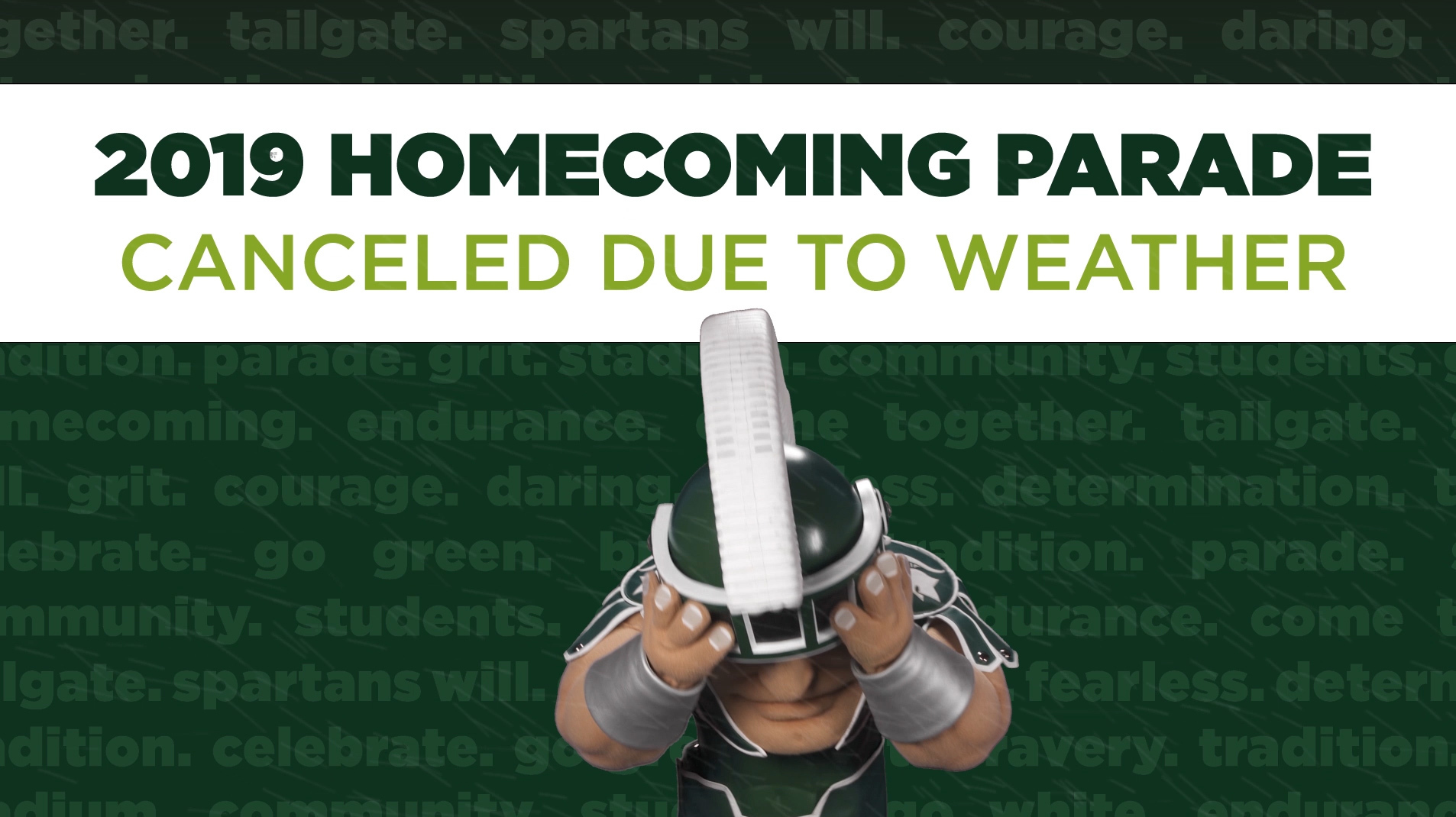 livestream cover image for 2019 MSU Homecoming Parade | Canceled Due To Weather