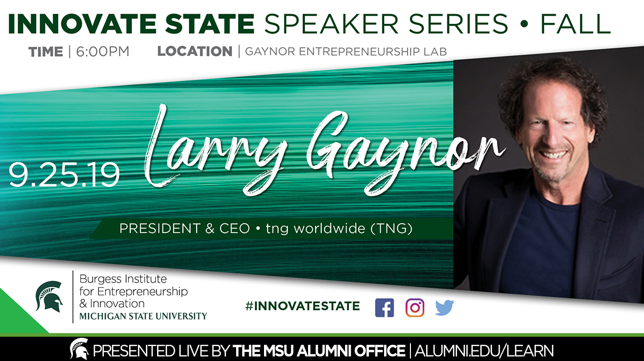 livestream cover image for Innovate State | Larry Gaynor