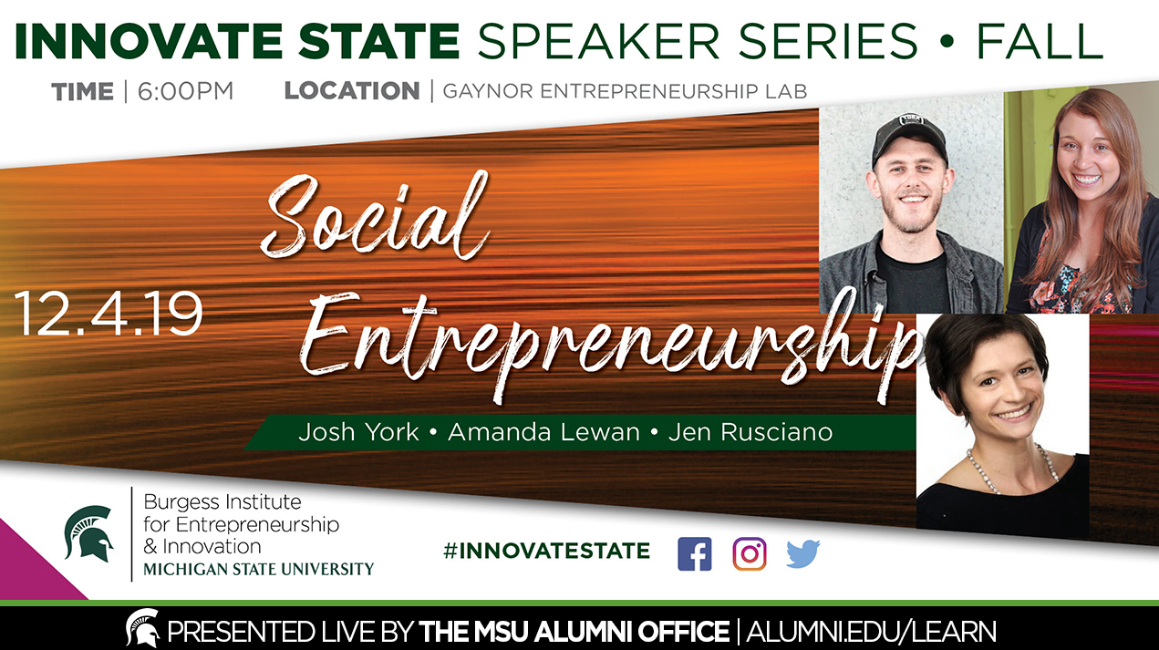 livestream cover image for Innovate State | Social Entrepreneurship