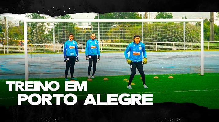 Treino do Corinthians em Porto Alegre