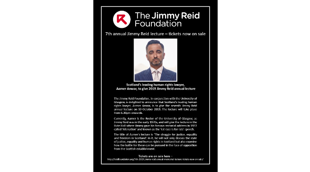 Aamer Anwar at Jimmy Reid annual lecture