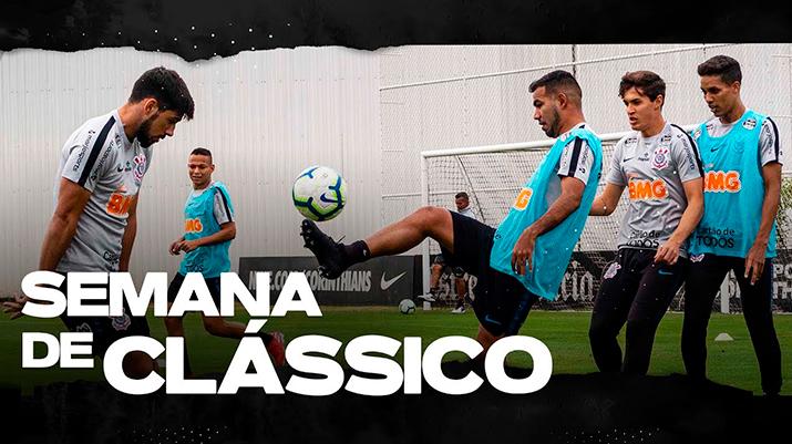 Corinthians treina de olho no clássico