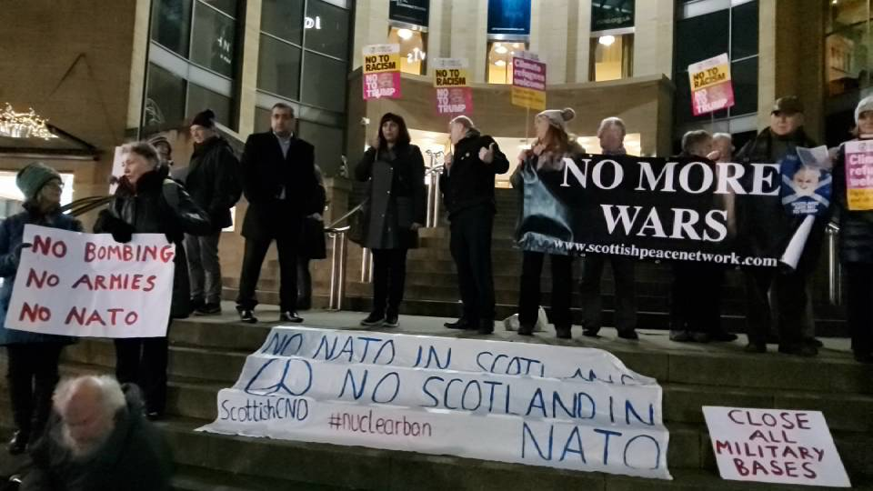No to Trump / No to NATO Rally Glasgow