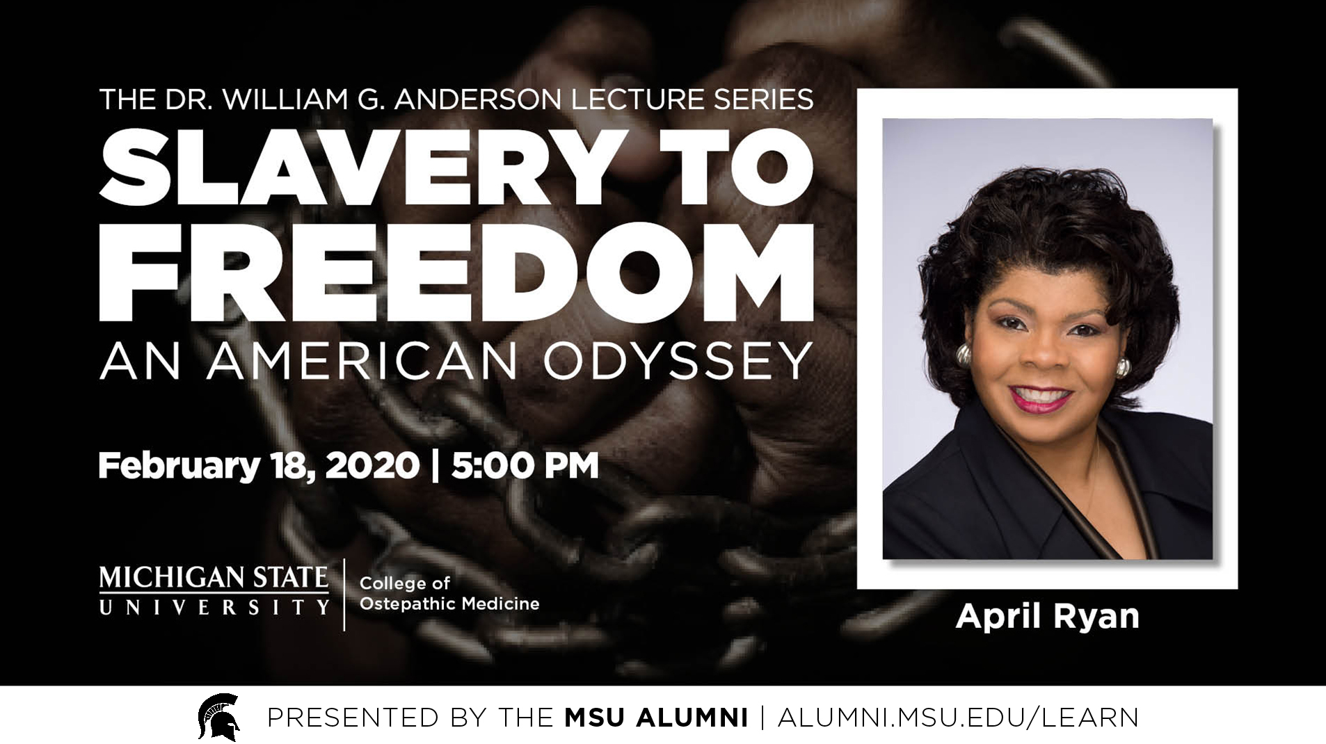 livestream cover image for Slavery to Freedom | April Ryan