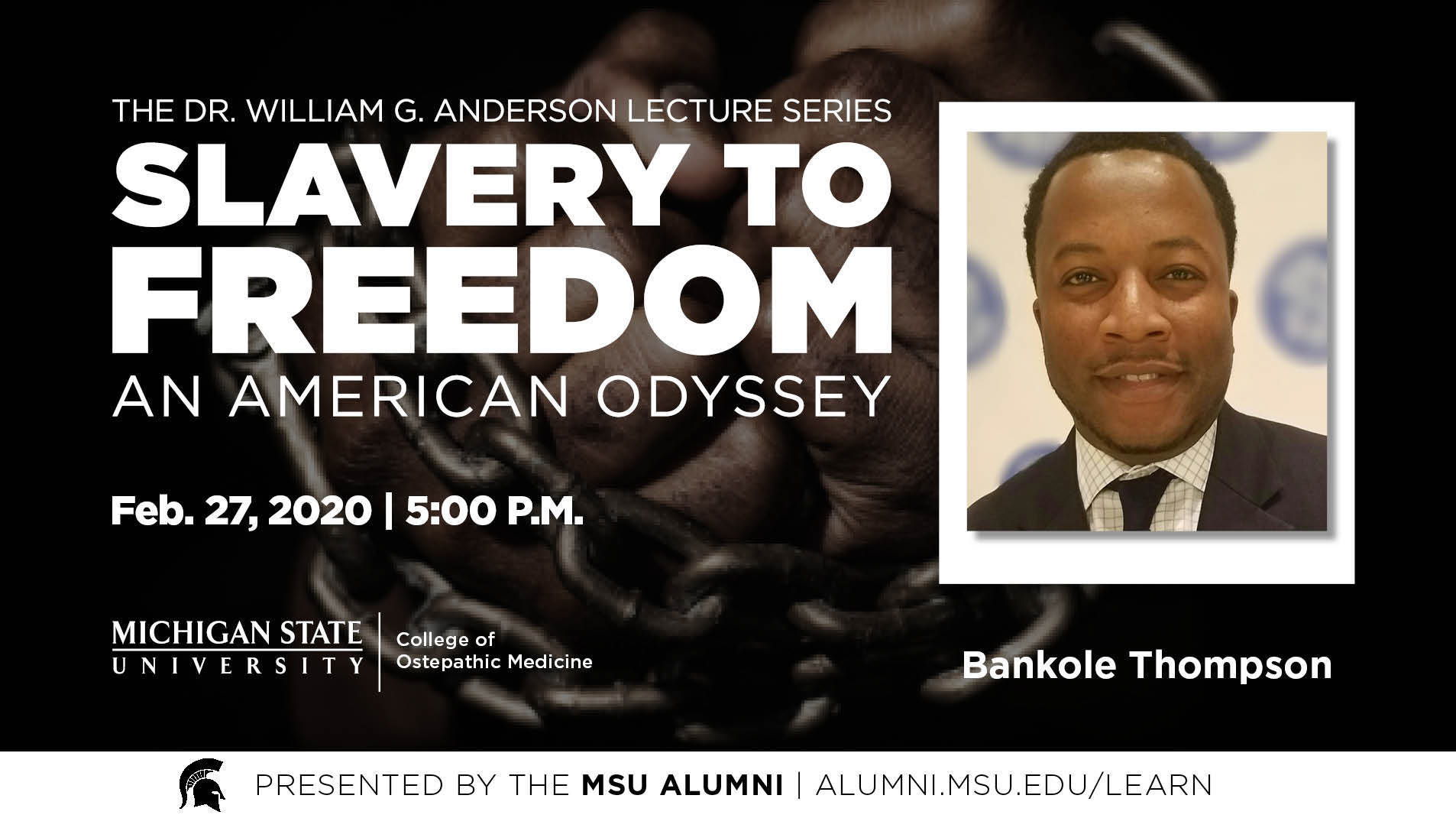 livestream cover image for Slavery to Freedom | Bankole Thompson