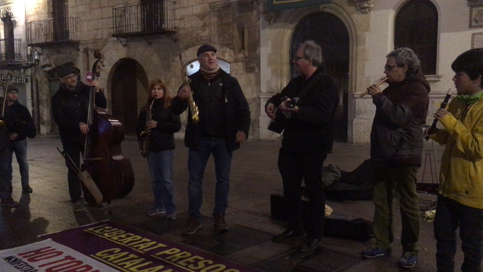 Vilafranca (Catalonia) daily protest