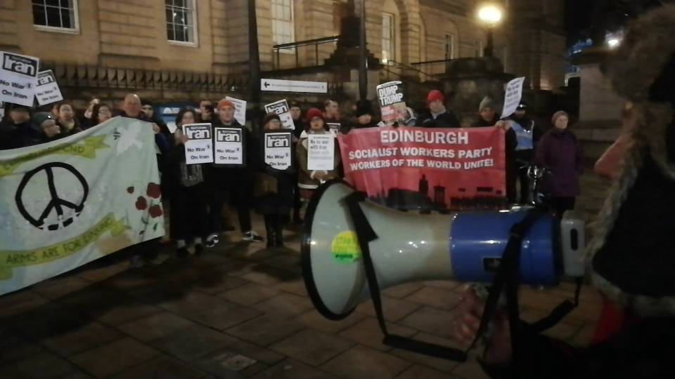 Stop the war coalition demo in Edinburgh - no war on Iran