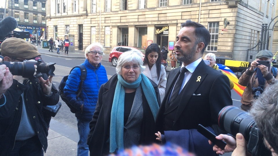 Clara Ponsatí - extradition hearing in Edinburgh, January 2020