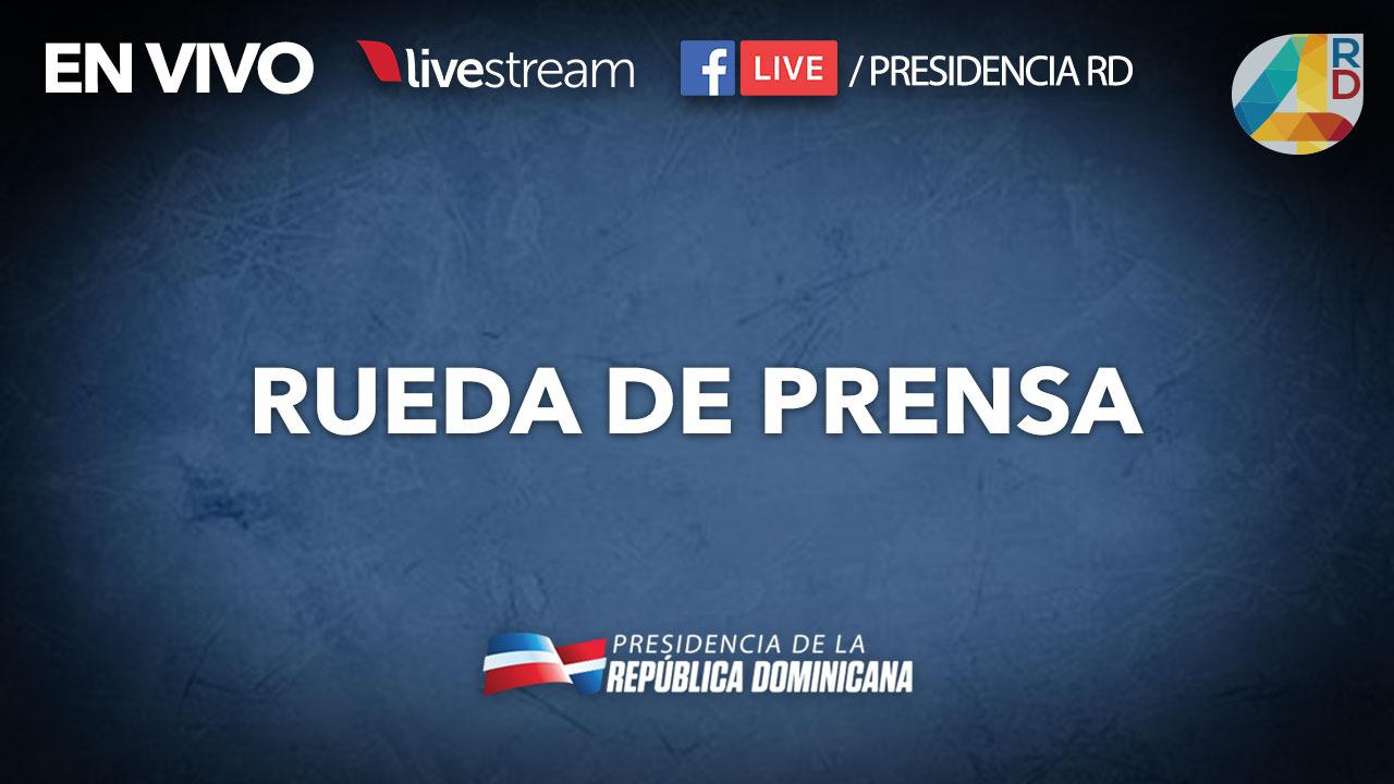 Resultado de imagen de rueda de prensa presidencia de la republica