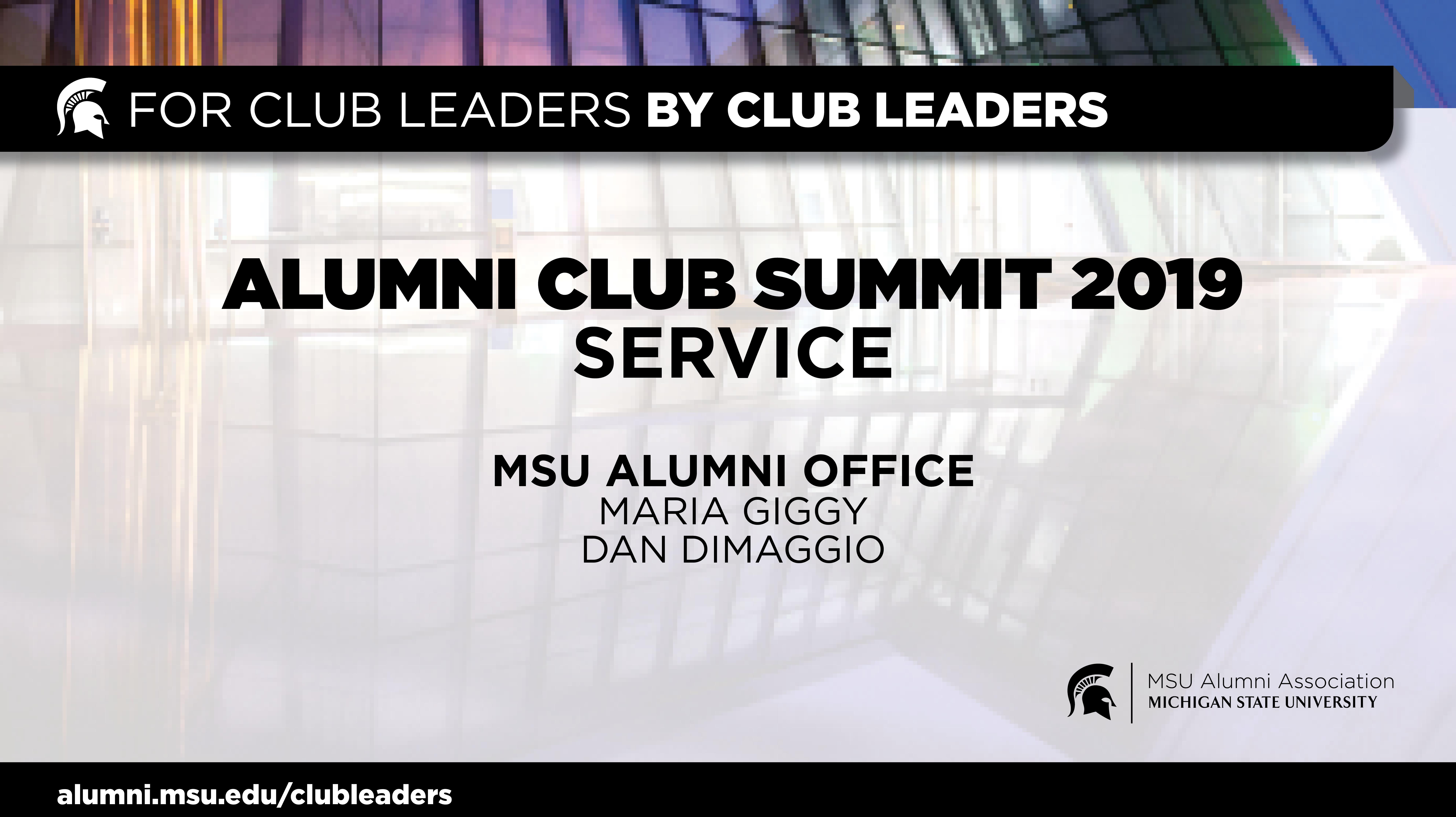 livestream cover image for Alumni Club Summit 2019 | Service