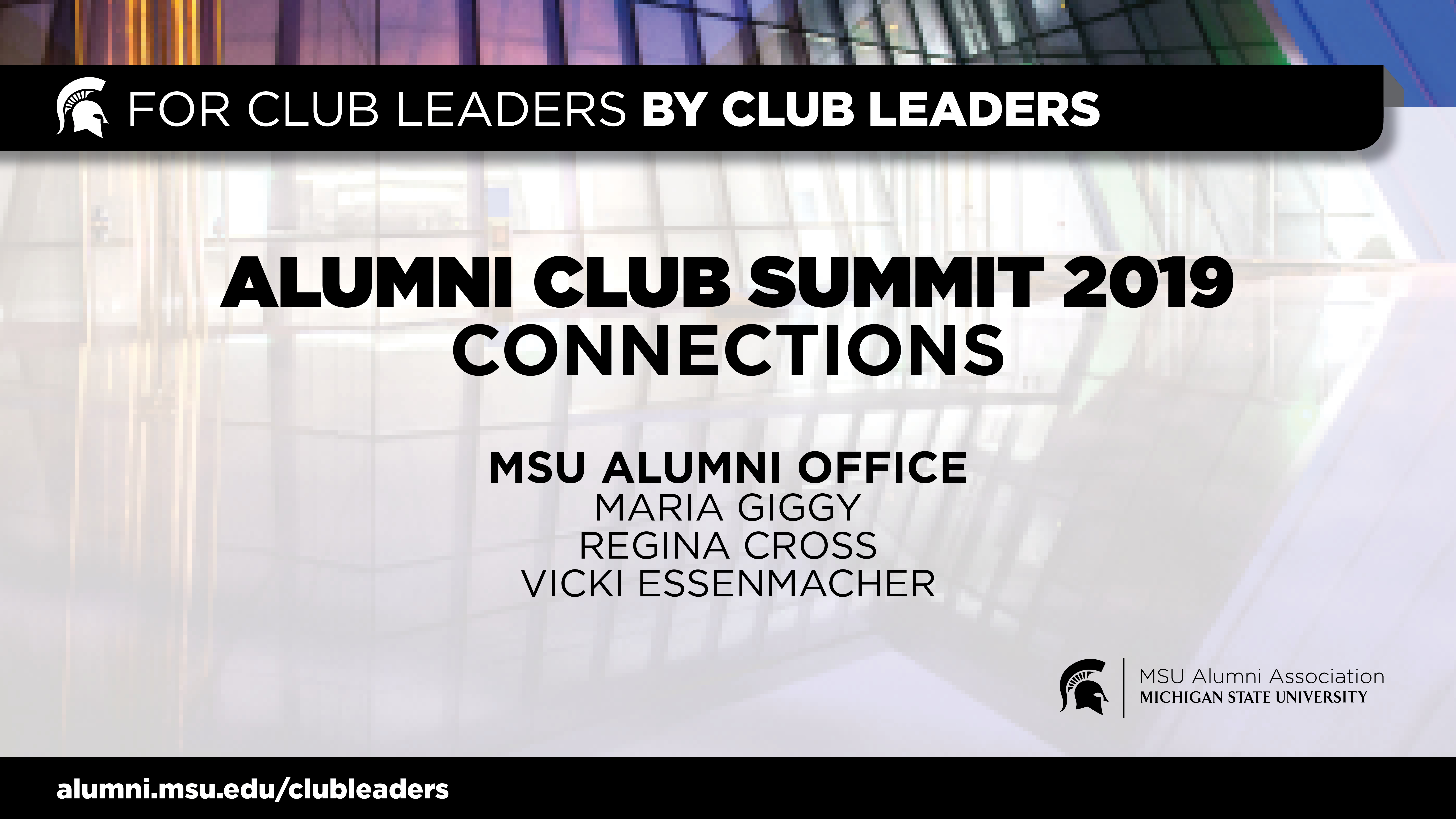 livestream cover image for Alumni Club Summit 2019 | Connections