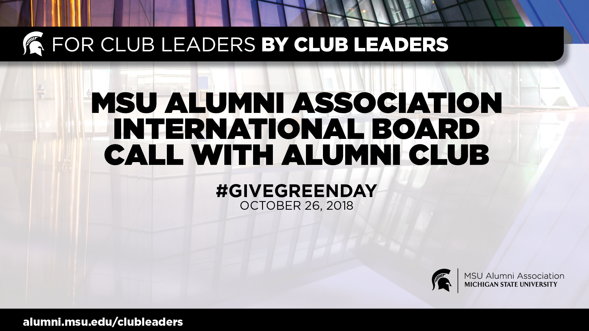 webinar cover image for International Board Call With Alumni Club Leaders | Give Green Day