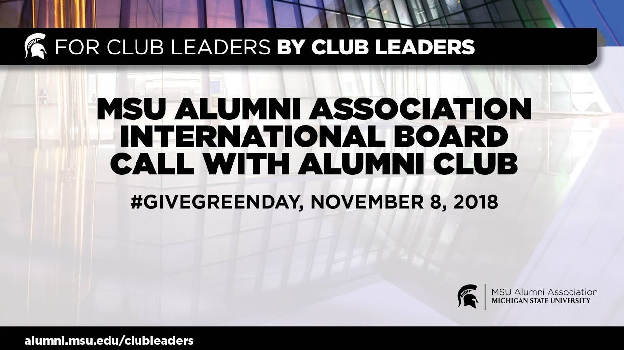 webinar cover image for International Board Call With Alumni Club Leaders | Give Green Day #2