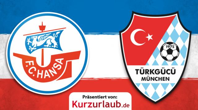 9. Spieltag (Nachholspiel): Hansa gegen Türkgücü München