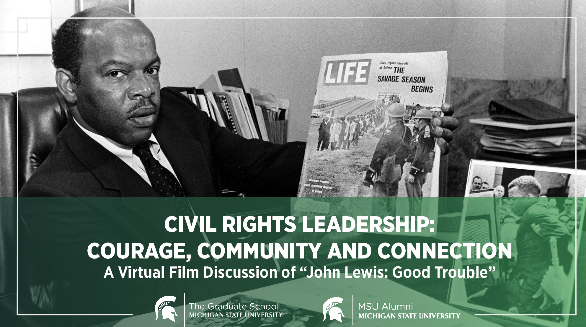 livestream cover image for Civil Rights Leadership: Courage, Community and Connection