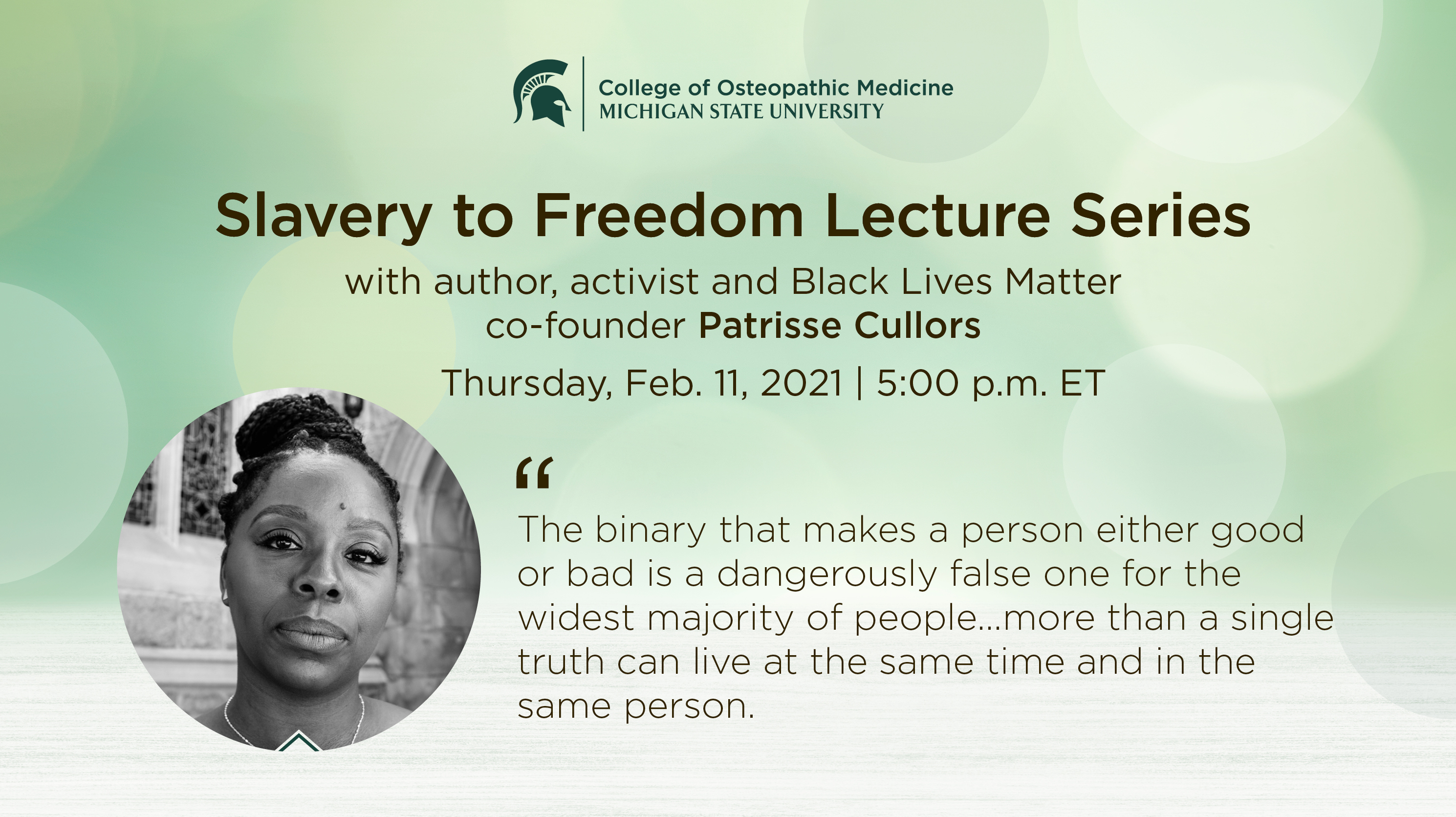 livestream cover image for Slavery to Freedom | Patrisse Cullors