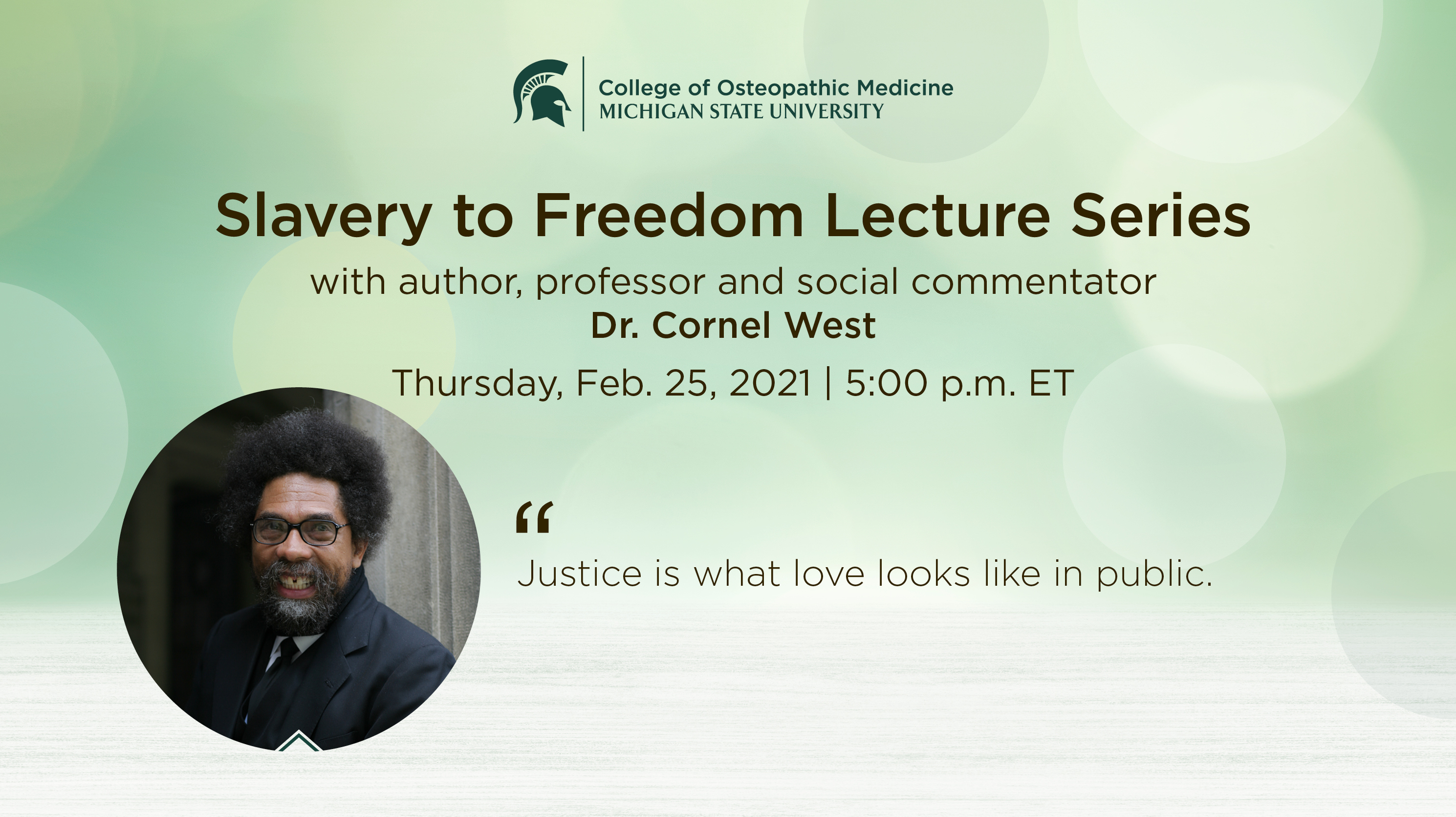 livestream cover image for Slavery to Freedom | Dr. Cornel West