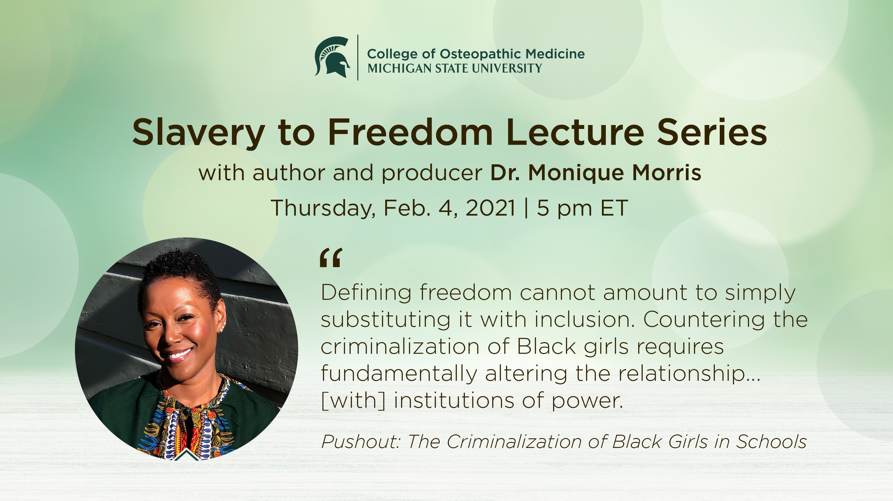 livestream cover image for Slavery to Freedom | Dr. Monique Morris