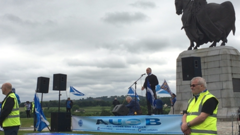 All Under One Banner - rally at Bannockburn