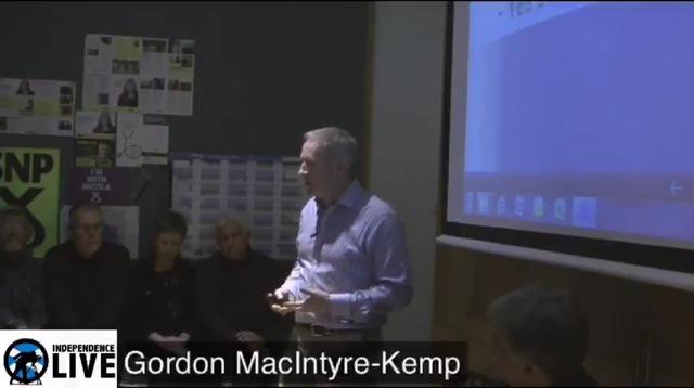 Gordon MacIntyre-Kemp At the SNP Club Edinburgh