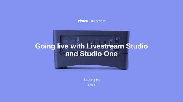 Demo: Going Live with Livestream Studio Software on Livestream