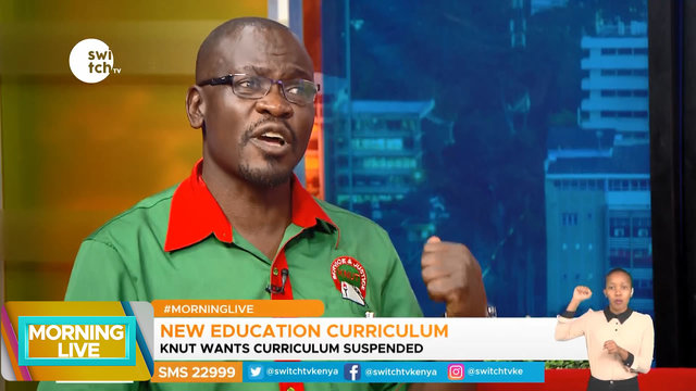 Morning Live: Why KNUT wants the new education curriculum suspended